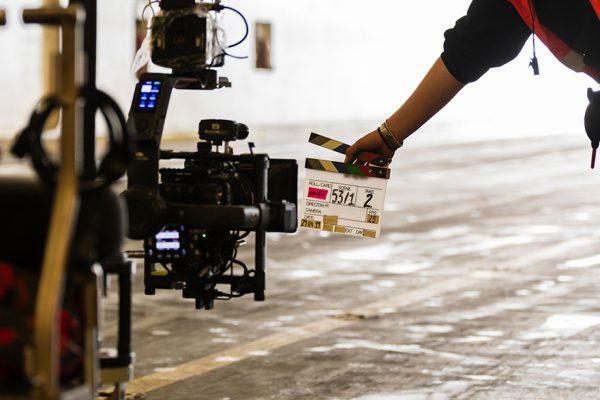 テレビカメラとスタート準備