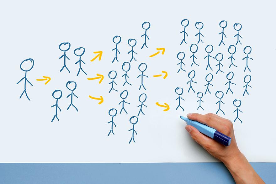 2)PRと広告、プロモーションの違いのイメージ